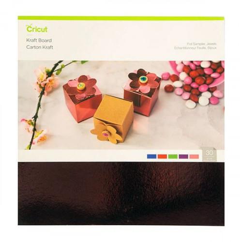 Carton kraft effet métallisé 30 x 30 cm - 30 feuilles