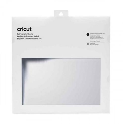 Cricut Foil Transfer Assortiment Argent 30 x 30 cm - 8 feuilles