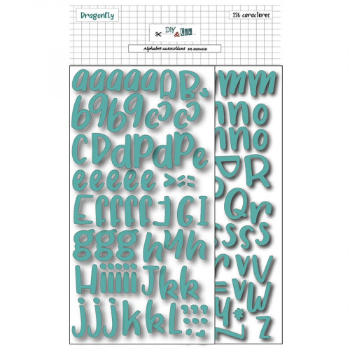 Alphabet Stickers en mousse verte