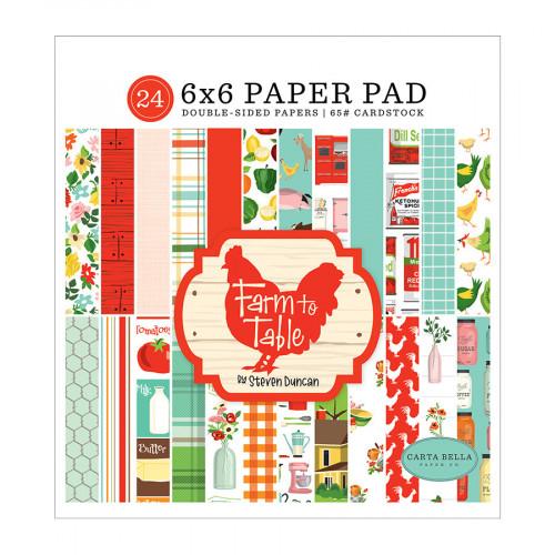 Farm to Table Bloc de papiers 15 x 15 cm