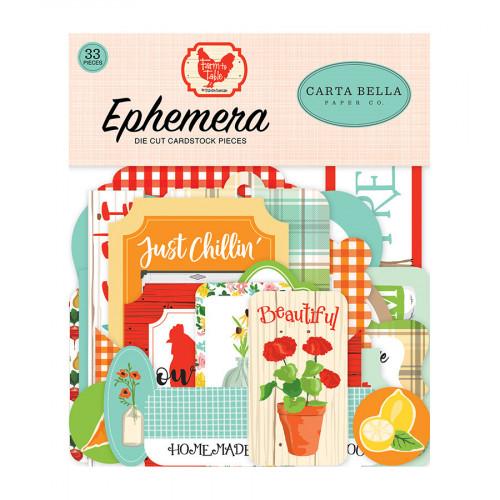 Farm to Table Formes découpées Ephemera #1