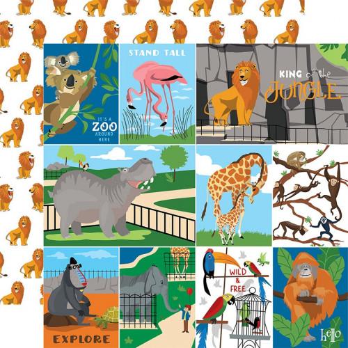 Zoo Adventure Papier Multi Journaling Cards