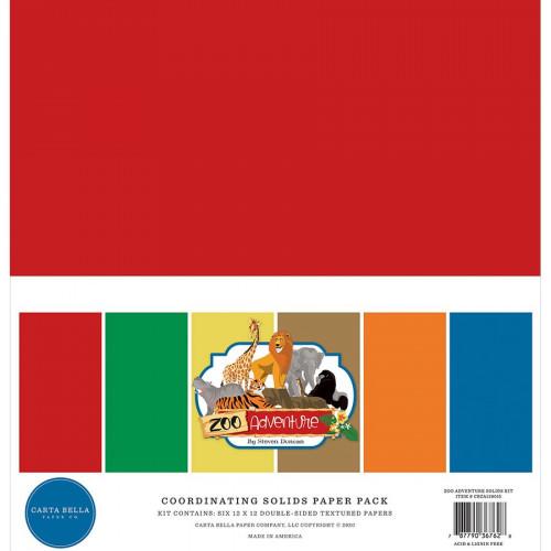 Zoo Adventure Papiers unis assortis 30 x 30 cm