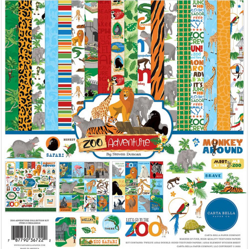 Zoo Adventure Kit de collection 30 x 30 cm