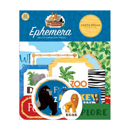 Zoo Adventure Formes découpées Ephemera #1