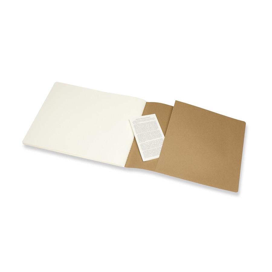 Album pour croquis Kraft papier ivoire 120 g/m² - 21,59 x 27,94 cm