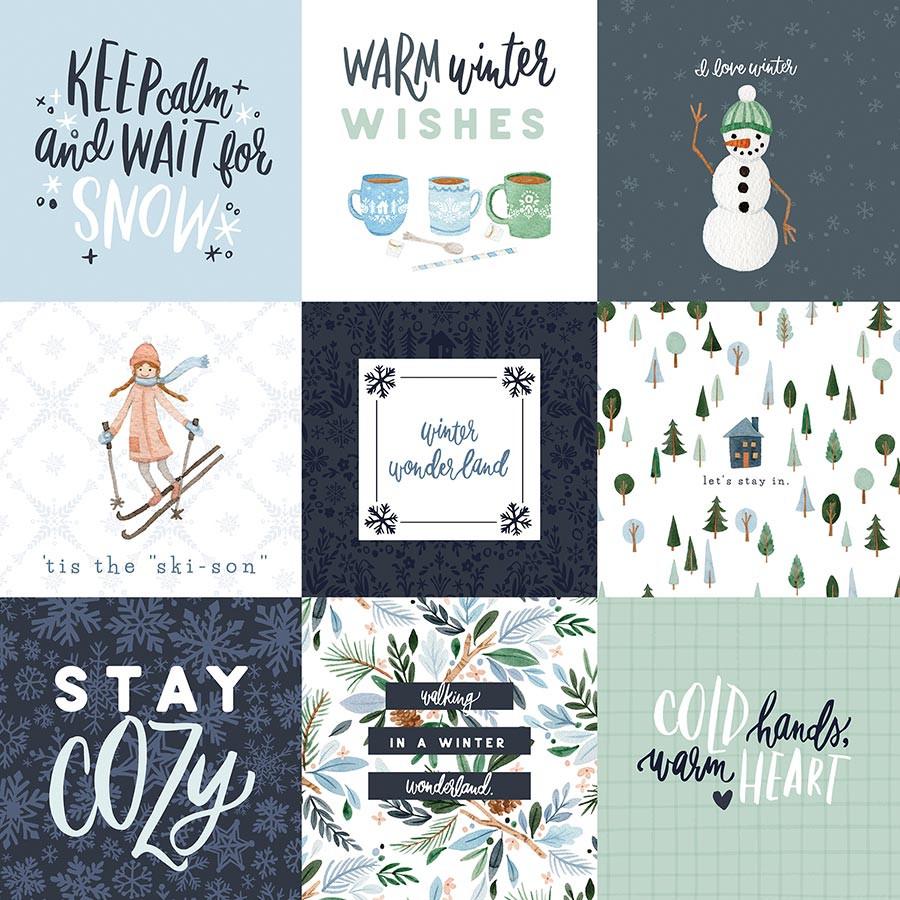Winter Market Papier 4X4 Journaling Cards