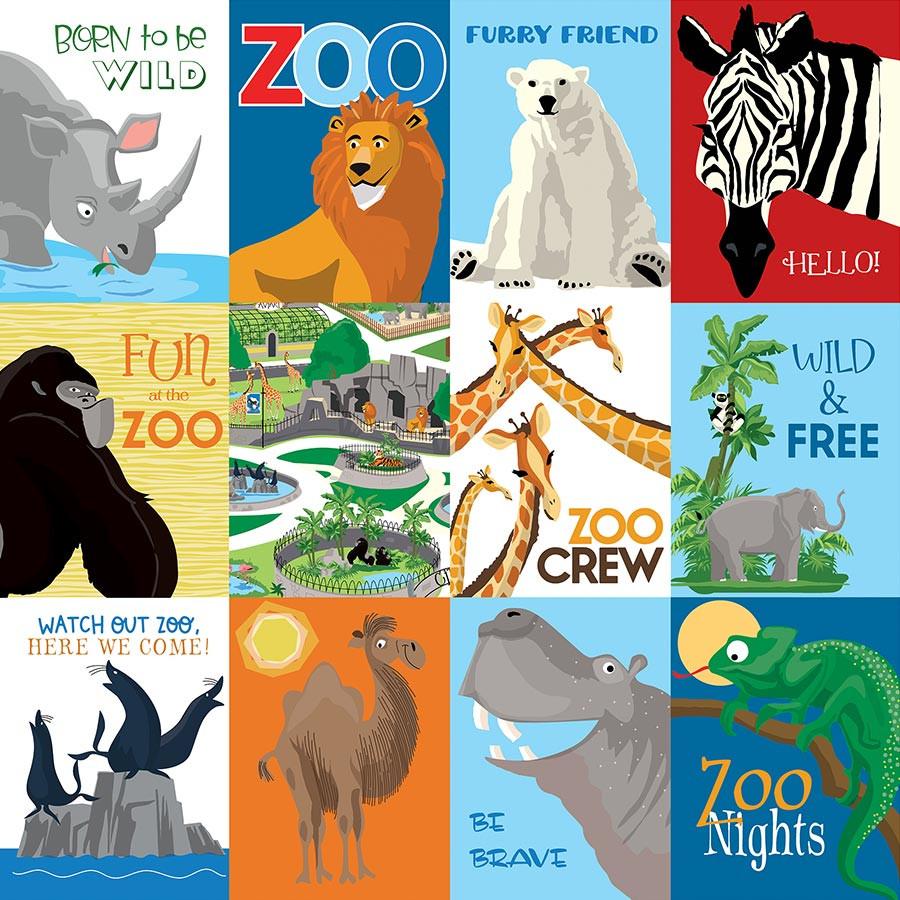 Zoo Adventure Papier 3X4 Journaling Cards