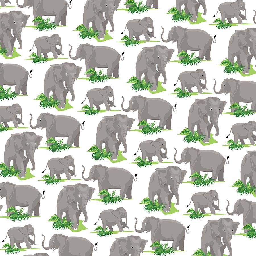 Zoo Adventure Papier Elephants