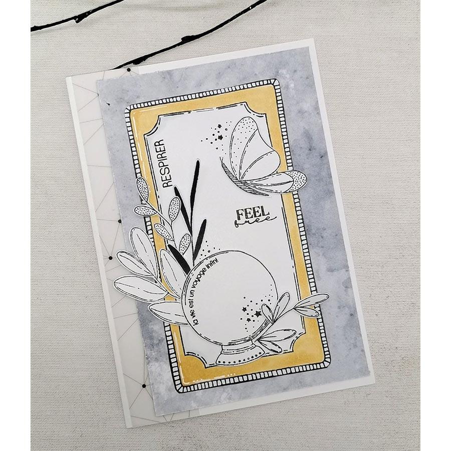 Tampons transparents Carte magique A5