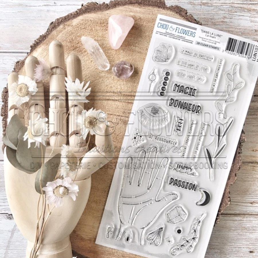 Tampons transparents Dans la main