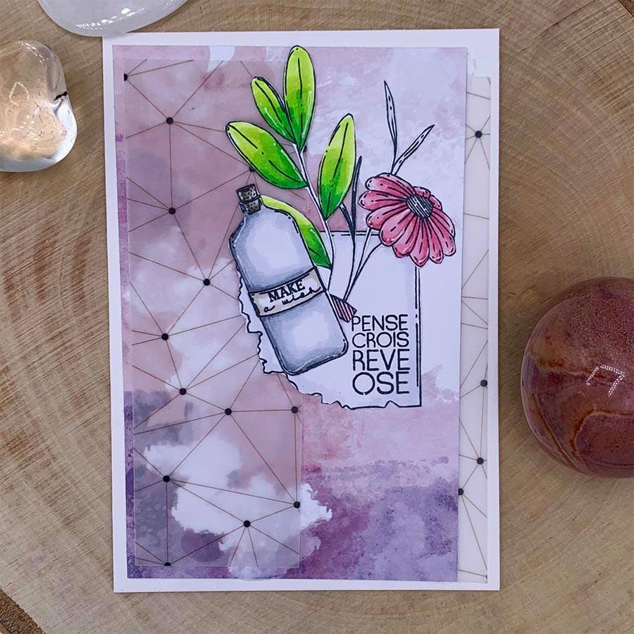 Tampons transparents Plantes magiques A5