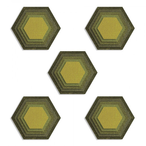 Thinlits Die Set Hexagones - 25 pcs