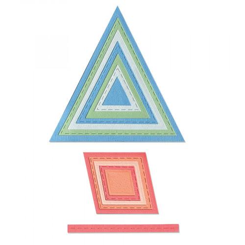 Thinlits Die Set Cadres géométriques - 13 pcs
