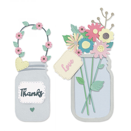 Thinlits Die Set Bocal aux fleurs - 17 pcs