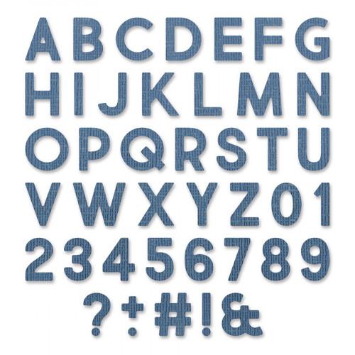Thinlits Die Set Alphabet et chiffres - 80 pcs