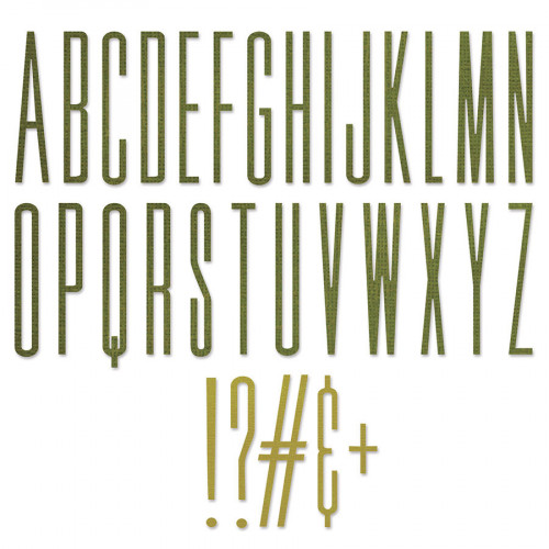 Thinlits Die Set Alphabet fin - 31 pcs