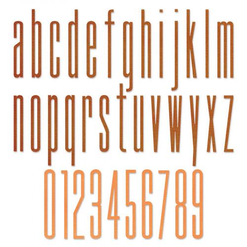 Thinlits Die Set Alphabet et chiffres fins - 36 pcs