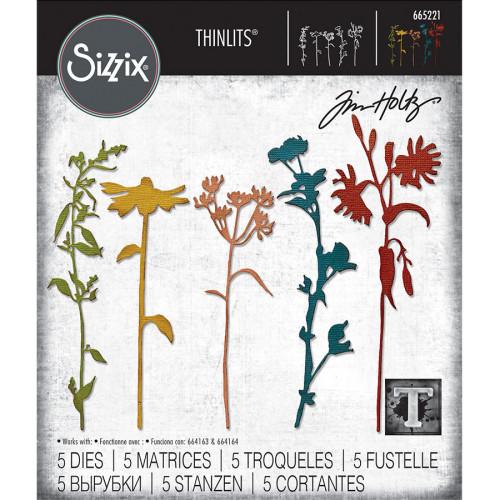Thinlits Die Set Herbes sauvages #3 - 5 pcs
