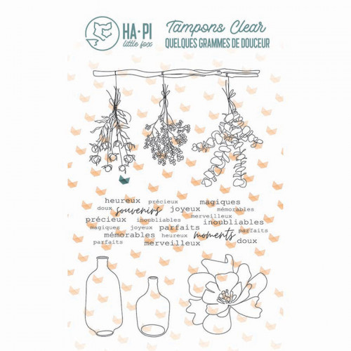 Tampons transparents Jolis bouquets - 5 pcs