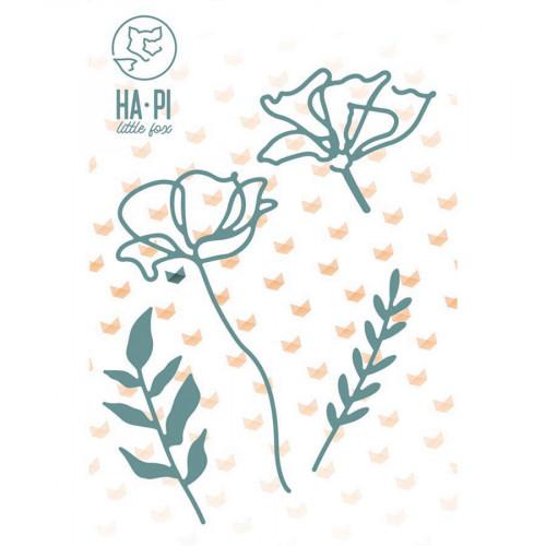 Die Set Fleurs et feuillages - 4 pcs