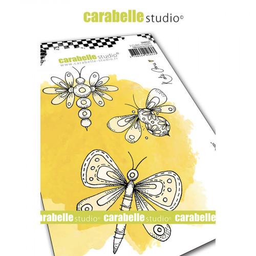 Tampons Cling Papillons fantaisies A6 - 3 pcs