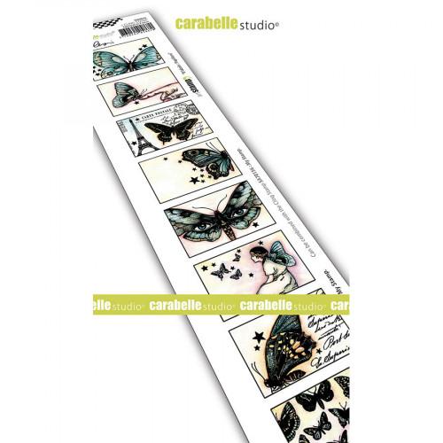 Tampon Cling 8 étiquettes papillons