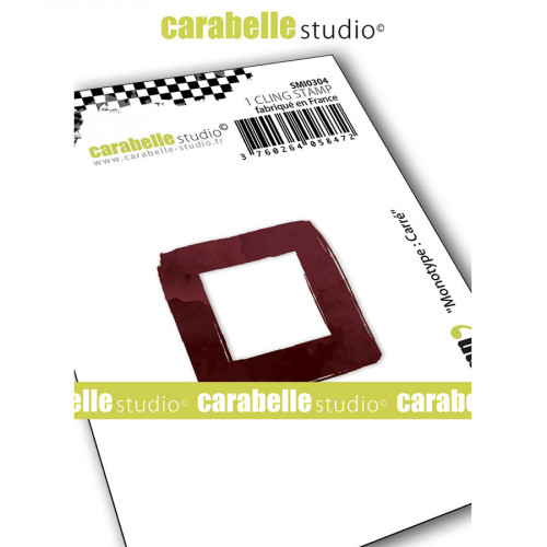 Tampon Cling Monotype : Carré - 5 x 5 cm