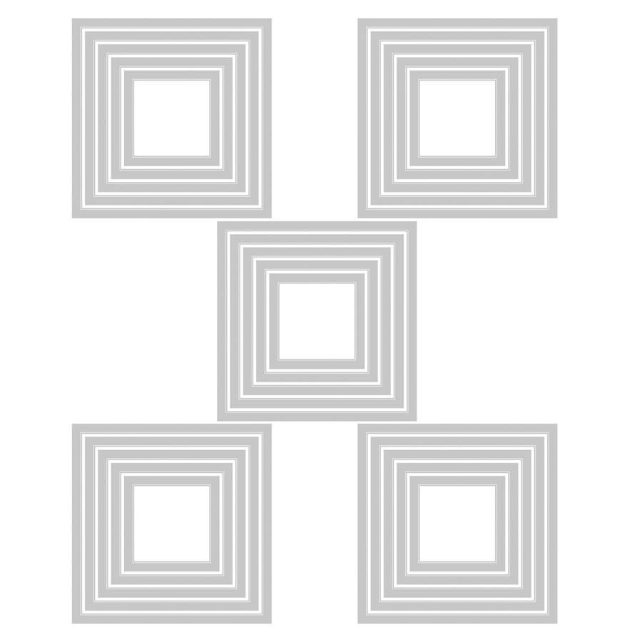 Thinlits Die Set Carrés - 25 pcs
