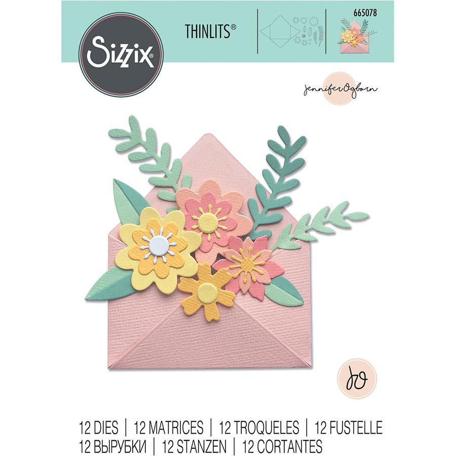 Thinlits Die Set Enveloppe fleurie - 12 pcs