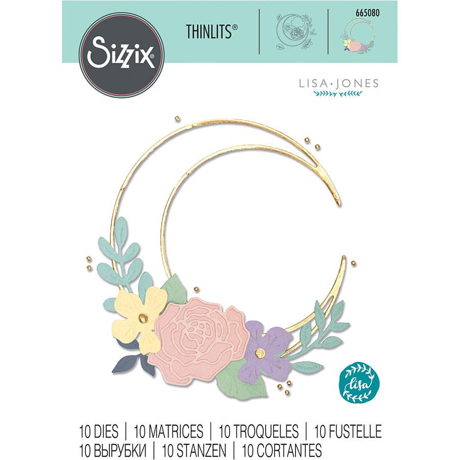 Thinlits Die Set Lune fleurie - 10 pcs