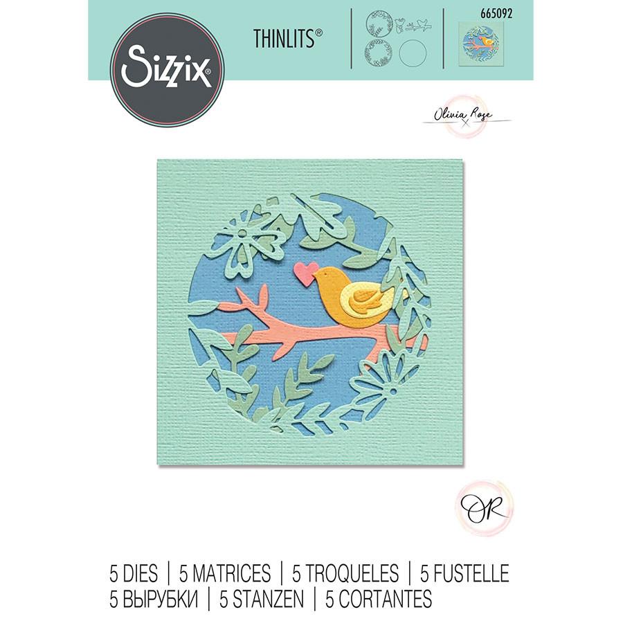 Thinlits Die Set Scène printanière - 5 pcs