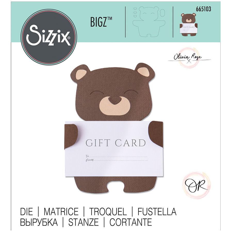 Bigz Die Ours porte-carte-cadeau