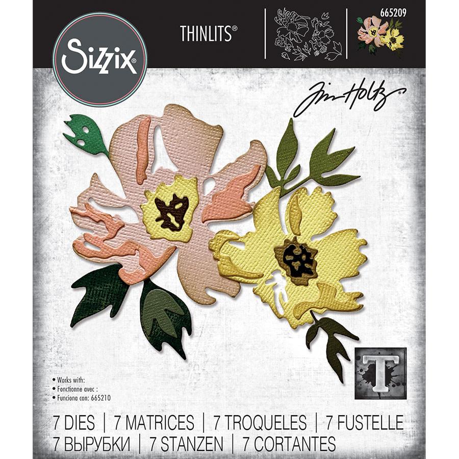 Thinlits Die Set Fleurs #1 - 7 pcs