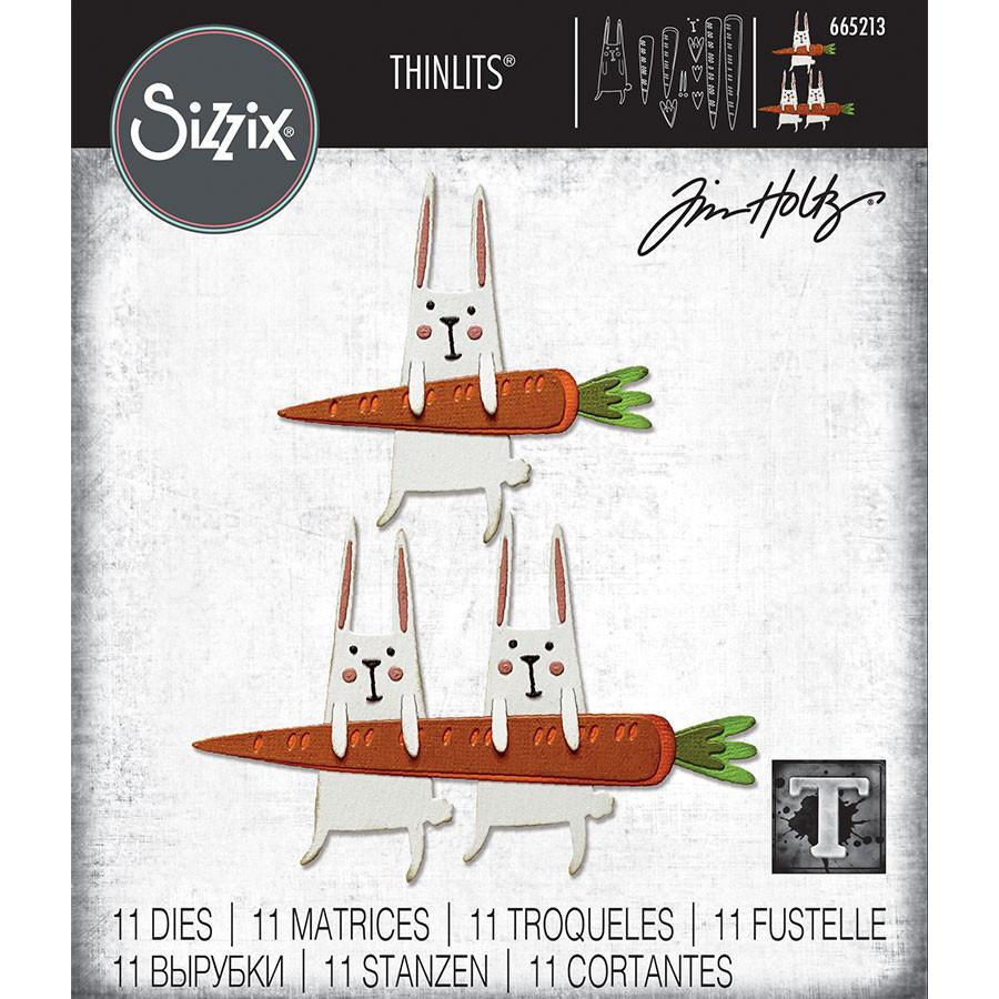 Thinlits Die Set Lapin carotte - 11 pcs