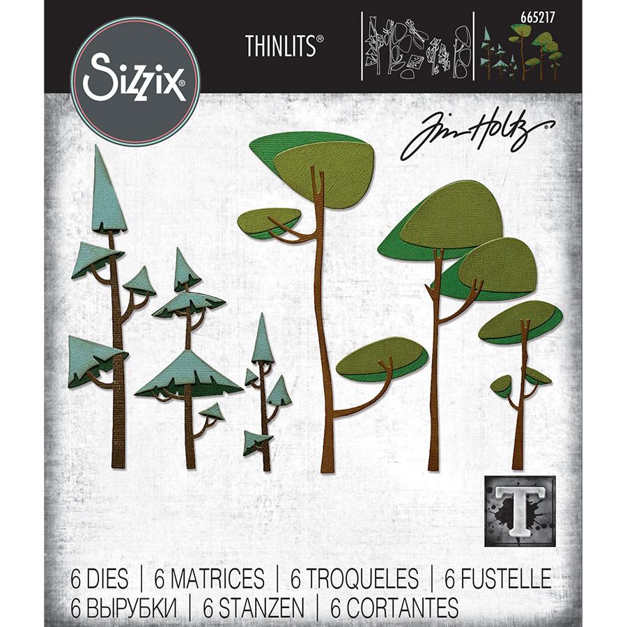 Thinlits Die Set Arbres funky - 6 pcs