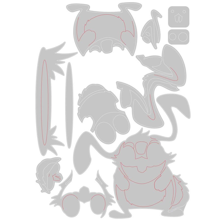 Thinlits Die Set Colorize Lapin Oliver - 11 pcs