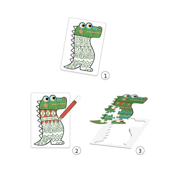Coffret DIY Puzzles à colorier Animocolor