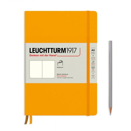 Carnet de notes rigide 14,5 x 21 cm - rising sun / pages blanches