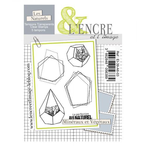 Tampons transparents Minéraux et végétaux - 5 pcs