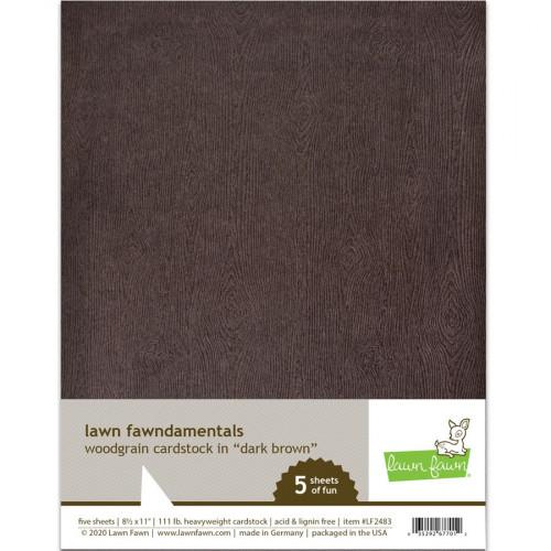 Cardstock Imitation bois marron foncé - 5 feuilles