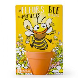 Abeille et ses fleurs à semer
