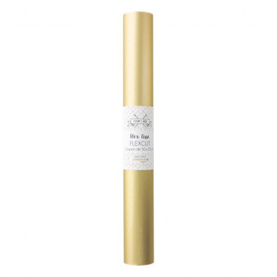 Flex thermocollant Flexcut 50 x 25 cm doré