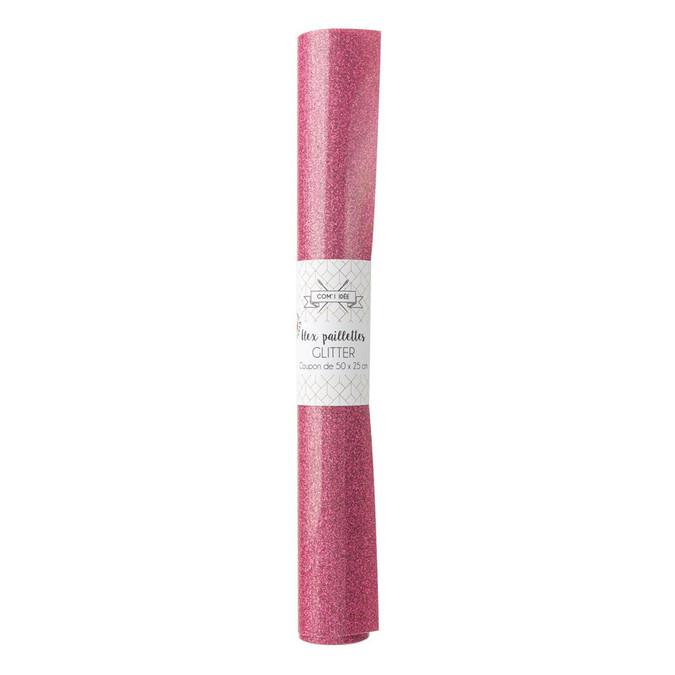 Flex thermocollant Flexcut 50 x 25 cm pailleté rose