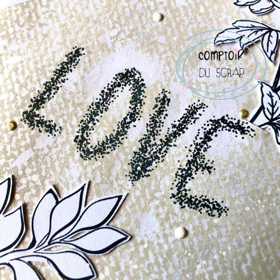 Tampons transparents Love - 2 pcs