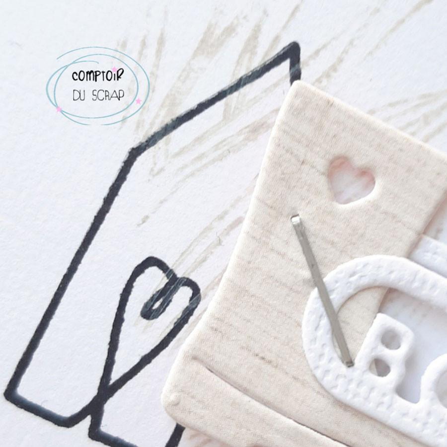 Tampons transparents Merci du fond du cœur - 16 pcs