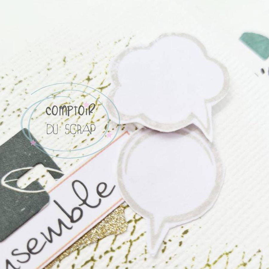 Tampons transparents Bulles BD - 23 pcs
