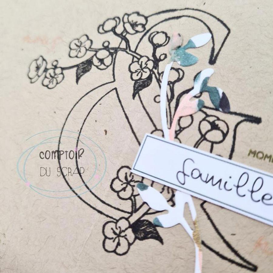 Tampons transparents Fleur de cerisier - 6 pcs