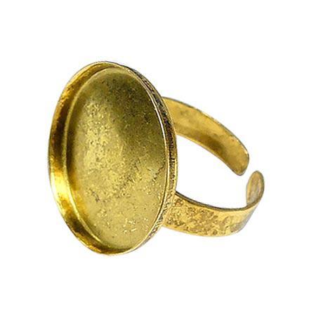 Bague ronde creuse - Vieil or - 20 mm de diamètre