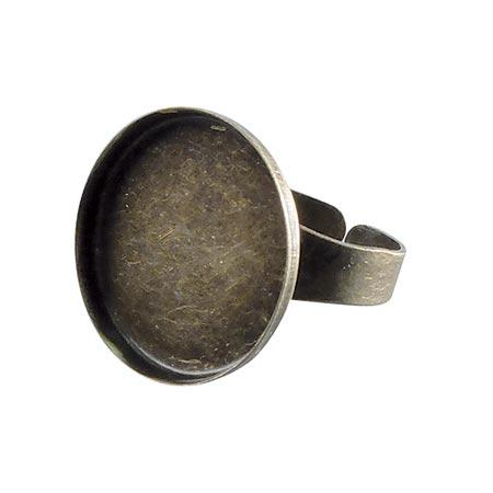 Bague ronde creuse - Bronze - 20 mm de diamètre